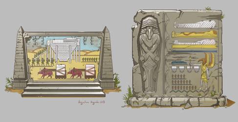 Egyptian Murals by AugustinasRaginskis
