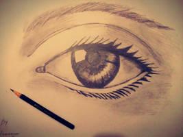 Realistic Eye Sketching by abhinendrachauhan