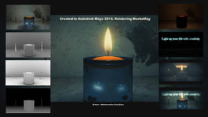 Realistic Candle Flame 3D by abhinendrachauhan
