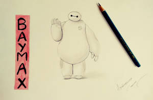 Baymax Drawing by abhinendrachauhan