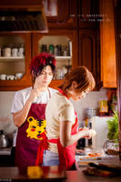 Kagami and Riko Cookin' Lesson! by josephlowphotography