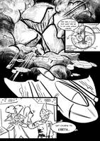 Alien Abduction- Comic Page Sketch by Gingco