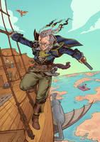 King of Sky Pirates Percy by sensej