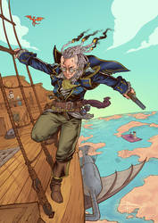 King of Sky Pirates Percy by sensej