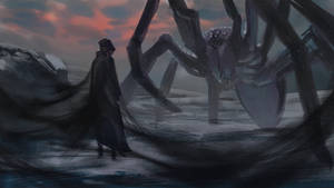 Melkor and Ungoliant by romero-leo