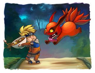 Naruto and Kyuubi Ramen Fight by TsaoShin