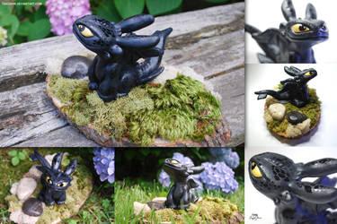 Toothless Sculpture 2 by TsaoShin