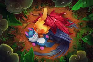 Birb Cuddles by TsaoShin