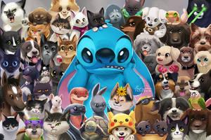 Stitch 'n Pets by TsaoShin
