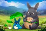Totoro - Paint Along by TsaoShin