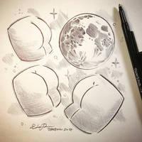 Inktober Day 7: Three ___ Moon by TsaoShin