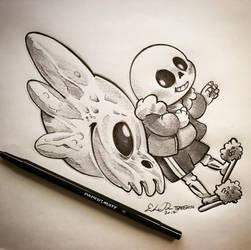 Inktober Day 11: Spooky Scary Skeleton by TsaoShin