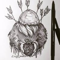 Inktober Day 13: Your Biggest Fear by TsaoShin