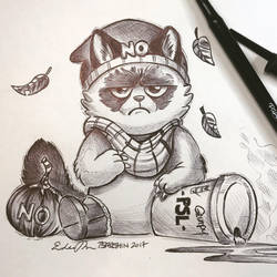 Inktober Day 14: Grumpy by TsaoShin
