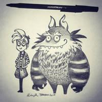 Inktober Day 20: Tim Burton-esque by TsaoShin