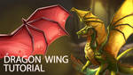 How to Draw Dragon Wings by TsaoShin