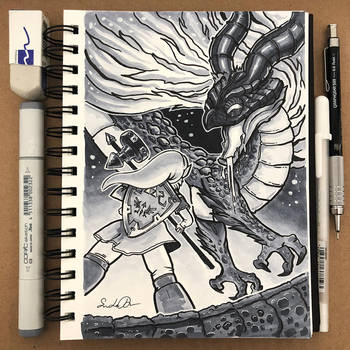 Inktober Day 19 - Scorched by TsaoShin