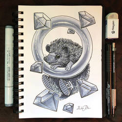 Inktober Day 25 - Prickly by TsaoShin