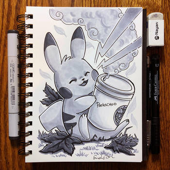 Inktober Day 30 - Jolt by TsaoShin