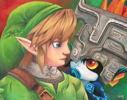 Link and Midna by TsaoShin
