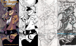 Comic Con Banner Process by mistermuck