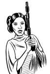 Inktober 2015 - Princess Leia by mistermuck