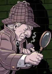 Detective Scratch postcard illo by mistermuck