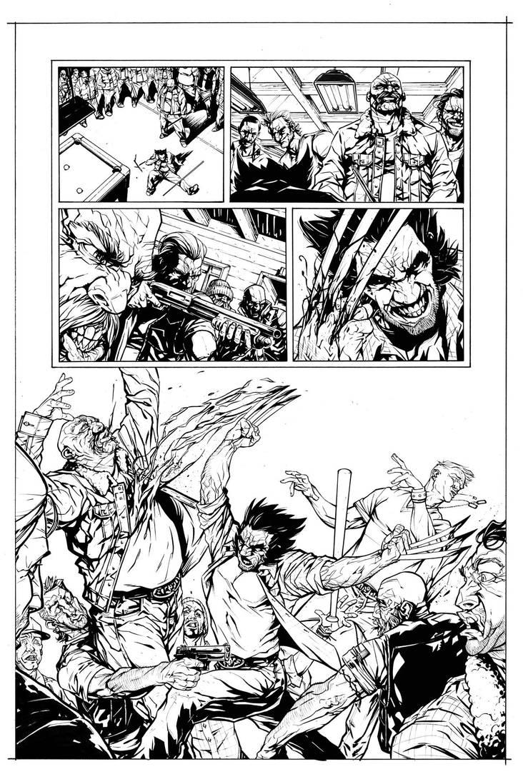 Wolverine - Bar Fight Scene page 2 by HenrikJonsson