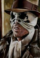 Rorschach half mask by sullen-skrewt