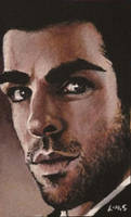 Zachary Quinto ACEO by sullen-skrewt