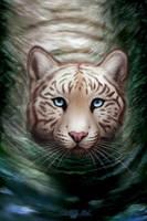 [G] Tiger's bath by EtskuniArt