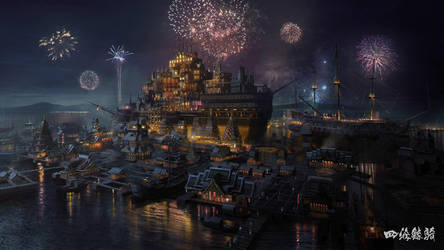 South Sea Floating City by wang2dog