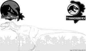 InGen Files - Tyrannosaurus rex by Miyess