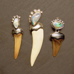 fossil tooth pendants by morpho2012