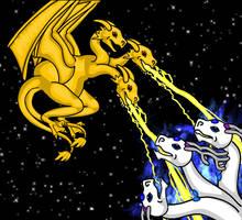 Angel vs. King Ghidorah... by AngelGhidorah