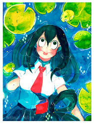 BNHA: Tsuyu Asui by Owlyjules