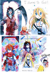 Angels of death - doodles part 2 by Owlyjules