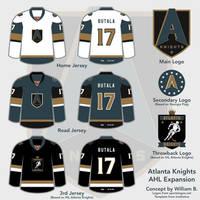 Atlanta Knights AHL concept by willb892