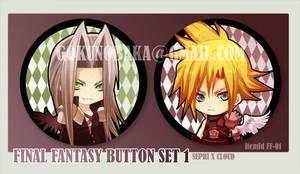 FinalFantasy Button set 1 by goku-no-baka