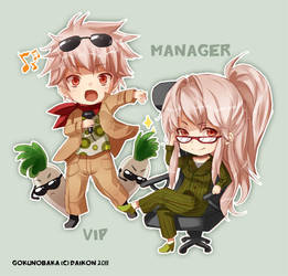 Daikon - Vip and Manager by goku-no-baka
