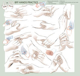 +DRAWING PRACTICE - BFF HANDS+ by goku-no-baka