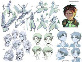 +Doodle Practice- SnK and OCs - Tumblr Log+ by goku-no-baka