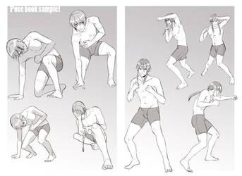 +Boys Expression and Pose book sample+ by goku-no-baka