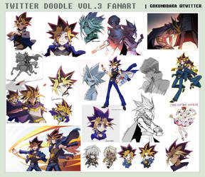 TWITTER FANART DOODLE! VOL.3 YGO! by goku-no-baka