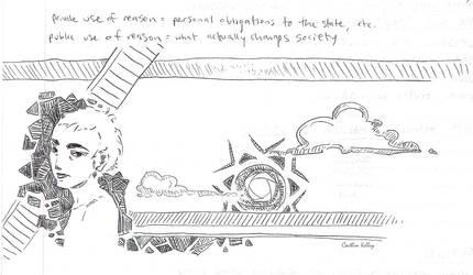 Political Philosophy Pen Scribbles by indigocean