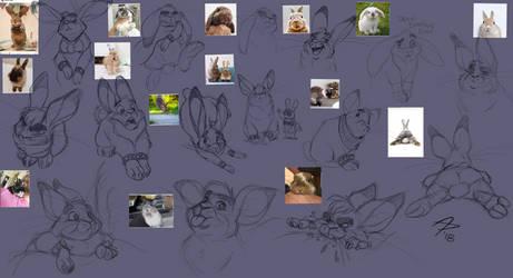 Bunnies Sketchdump by fnook