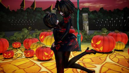 MMD Happy Halloween! Kagamine Rina and Len by pandanekochanx3