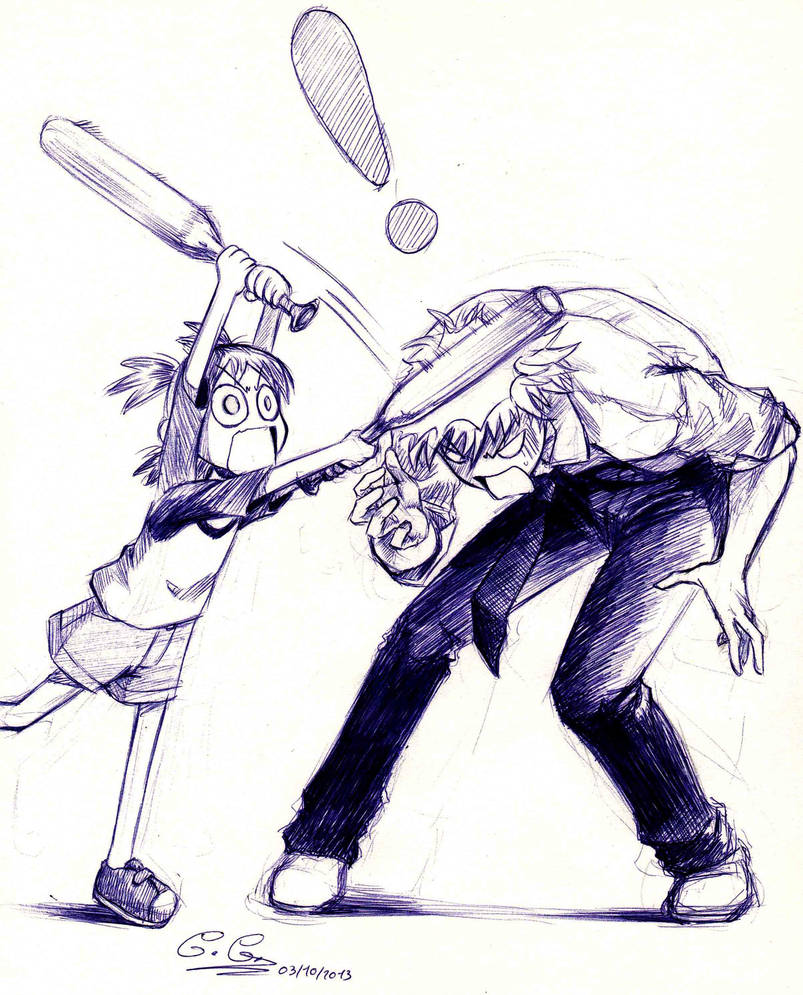 Yotsuba and Yanda by SalamiCC