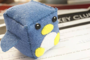Cube Penguin Plush by Krystle-K