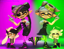 Squid Sisters by NightmareRarity1